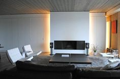 The Elegant Living Room With Light Effects