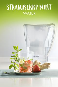 Strawberry Mint Water #water #refreshing #strawberry #mint  https://www.bwt-filter.com/en/products/Table-water-filter-Cartridges/expert-opinion/Recipe-ideas-for-the-office/Pages/default.aspx