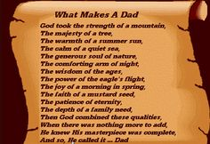 Father's Day Poems - Share these poems with your pupils and inspire them to write on about their father