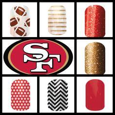 San Francisco 49ers Jamberry Nail Wraps, Nail Ideas, San Francisco, Nail Art Ideas