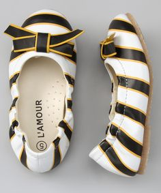 L Amour Shoes Black   Yellow Bow Flat  So cute. I imagine they d also be  adorable with a bumble bee Halloween costume. 18731fc0a4e