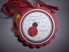 Ladybug Birthday Party Favor Tags  Jumbo  Ladybug by kidEprints, $9.99
