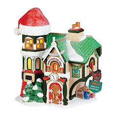 """Department 56: Products - """"Santa's North Pole Office"""" - View Lighted Buildings"""