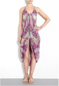Feather Chiffon Drape Sanela Dress by Mara Hoffman £145
