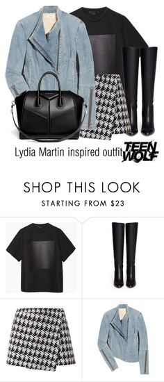 """Lydia Martin inspired outfit/Teen Wolf"" by tvdsarahmichele ❤ liked on Polyvore featuring Alexander Wang, Jimmy Choo, Helmut Lang and Givenchy"