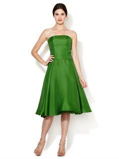 Strapless Silk Flared Dress by Carolina Herrera at Gilt