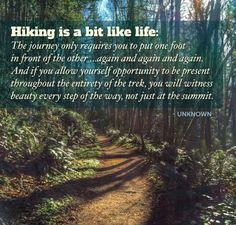 Hiking is a bit like life ...