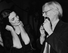 Andy Warhol takes picture of Margaret Trudeau dancing at Studio 54.