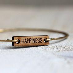 Happiness bracelet yoga jewelry by TinyWhaleStudio on Etsy Tiny Whale Studio