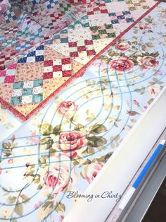 Fitting a cable to a border www.bloominginchintz.blogspot.com