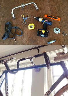 DIY Bike Rack Fashioned From Old Handle Bars | 12 Space-Saving Bike Rack Solutions