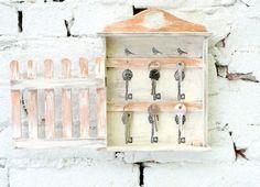 Wooden Key Box Holder Wardrobe by MyHouseOfDreams on Etsy, $38.00