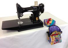 Plum Easy patterns - make Pin Cushion with thread catcher, near a featherweight.JPG