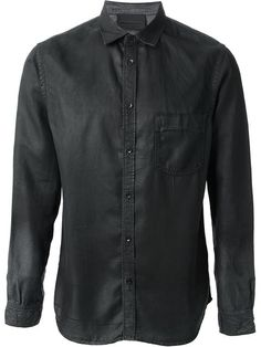 Shop Diesel Black Gold distressed shirt in Russo Capri from the world's best independent boutiques at farfetch.com. Over 1000 designers from 300 boutiques in one website.