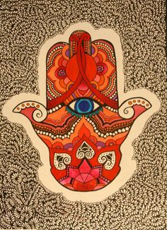 hamsa- inspiration for a colorful room