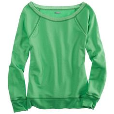 Aerie Sparkle Crew Sweatshirt ($12) ❤ liked on Polyvore featuring tops, hoodies, sweatshirts, sweaters, shirts, sweatshirt, crisp green, green top, american eagle outfitters shirts and sweatshirts hoodies