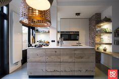 Jp walker houten keukens minimalistisch ruw hout hoog