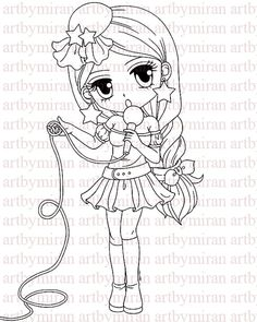 Digital StampPop Star Suzy Digi Stamp Coloring page by artbymiran, $3.00