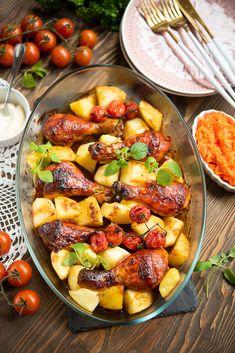 Udka pieczone - rozpływają się w ustach! Kung Pao Chicken, Pork, Food And Drink, Potatoes, Dinner, Ethnic Recipes, Sweet, Master Chief, Kale Stir Fry