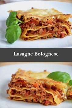 Lasagne Bolognese Rezept, super lecker!