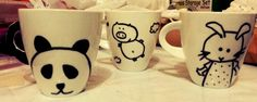 #DIY mugs + sharpies #gifts