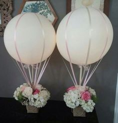 Baby shower centrepieces
