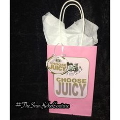 Juicy couture inspired favor bags
