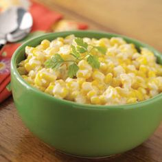 Creamed Corn - We LOVE this corn!  I usually skip the sugar and add cracked pepper instead.  Everyone who has tried it asks for the recipe.