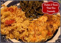Sweet Tea and Cornbread: Chicken & Bacon Fried Rice Casserole!