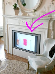 1000 Images About Fireplace Cover Ups On Pinterest Tvs