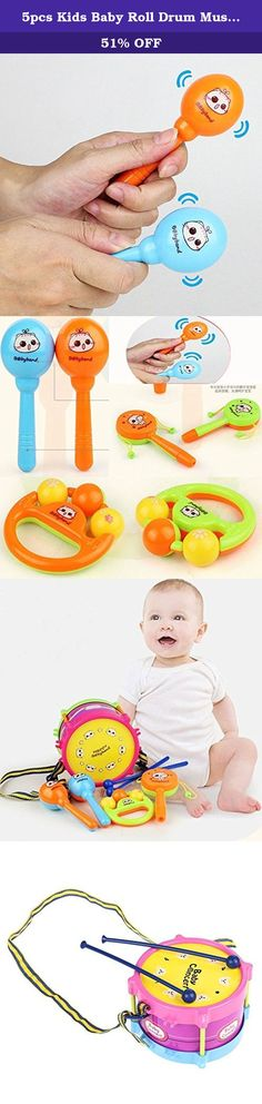 5pcs Kids Baby Roll Drum Musical Instruments Band Kit Children Toy Gift Set. Brand:NEW.Model:Kids Roll Drum Kit.Color:Multi-Color.Quantity: 1 Set (5pc).Material: Plastic. Brand:NEW Model:5pcs Kids Roll Drum Kit Color:Multi-Color Condition: 100% brand new and high quality Quantity: 1 Set (5pc) Color: as picture show Material: Plastic Approx Size: Suitable for Age : suit 3+ years old.