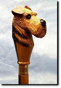 Airedale Dog Walking StickOur unique selection of handpainted Dog Breed Walking Sticks is sure to please the most discriminating Dog Lover!Be the envy of everyone with this unique canine walking ...