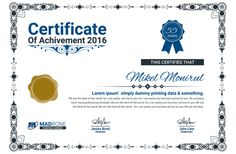 50 Multipurpose Certificate Templates and Award Designs For Business and Personal Use Certificate Design, Certificate Templates, Powerpoint 2010, Award Certificates, Islamic Art, Business Design, Lorem Ipsum, Awards, Projects To Try
