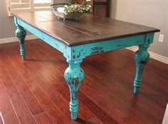 this is a beautiful color combination farm tablesdining room