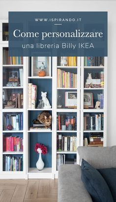 Billy Ikea, Idee Diy, Ikea Hack, Ikea Ideas, Diy Ideas, Bookcase, Shelves, Crafty, Tutorials