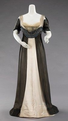 House of Worth evening gown, 1909-11