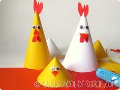 Idee per Pasqua: gallinelle e pulcini da fare in 5 minuti