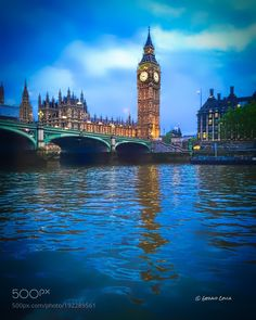 Big Ben from the River Thames, London