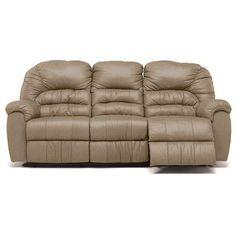 Palliser Furniture Taurus Reclining Sofa Upholstery: Bonded Leather - Champion Mink, Leather Type: Bonded Leather, Type: Power