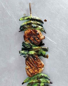 Pork and Snap Pea Kebabs with Ginger-Hoisin Glaze With Asian-inspired flavors of ginger and hoisin, these lively combinations of tastes, colors, and textures is just as fun to make as it is to eat.