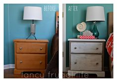 Annie Sloan Chalk Paint Nightstand Makeover (Two Color Distress