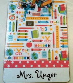 Mrs. Unger's Unbelievable Elementary Experiences!: Love, Love, LOVE these personalized clipboards!
