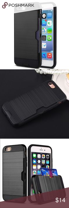iPhone 7 Plus Shockproof tough protect wallet case Luxury 2017 newest design heave duty shockproof protective  2 in 1 hybrid High quality armor cases for iphone 7 Plus with ID card holder hard tough wallet phone. - Shock-Proof +Scratch-Resistant + Anti-Skid+anti filp - High quality make your iphone look Fashion & gorgeous.   - Fashion and Comfortable Style  - Perfect access design for speaker, buttons, camera and ports, etc. - Protection from scratch, dust and impacts. Color: Black Size…