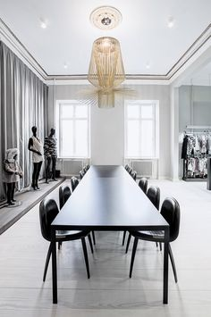 SCANDINAVIAN CHIC: Kopenhagen Fur office designed by Helle Flou. Photos by Kristine Funch