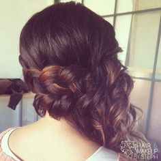 great wedding hair for bride or bridal party