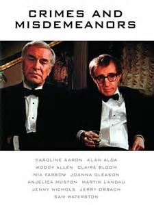 Crimes and Misdemeanors (1989) - Woody Allen, Alan Alda, Mia Farrow, Martin Landau, Anjelica Huston.  Woody is as neurotic as always.  Landau is excellent.  A story about affairs, love, murder, guilt, egomania.  What's not to like?
