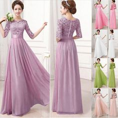 Light Pink Women Summer Prom Cocktail Party Long Maxi Bridesmaid Plus Size Dress