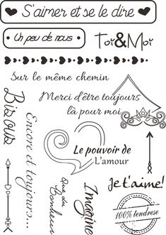 Mots français 5 Transparent Clair Silicone Timbres pour Scrapbooking/Carte DIY Making/Enfants De Noël Amusant Décoration Fournitures