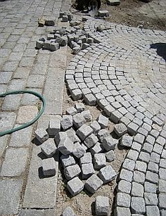 cobblestone walkways and driveways                                                                                                                                                     More