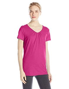 Hanes Womens Shirred VNeck TShirt Amaranth XLarge *** You can get additional details at the image link.Note:It is affiliate link to Amazon.
